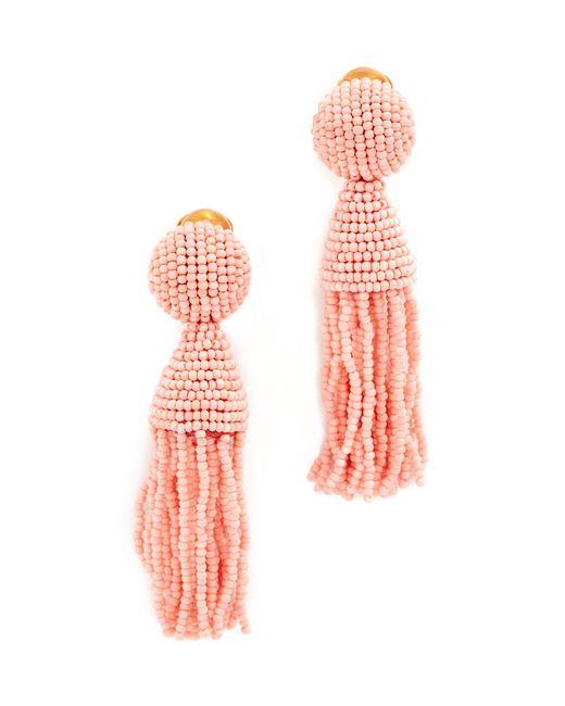 Oscar de la Renta | Multicolor Short Beaded Tassel Clip On Earrings | Lyst