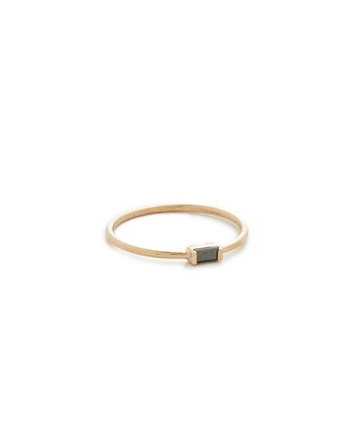 Zoe Chicco - Metallic Black Baguette Stacking Ring - Lyst