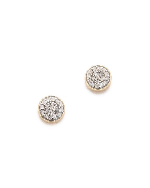 Adina Reyter - Metallic Solid Pave Disc Earrings - Lyst