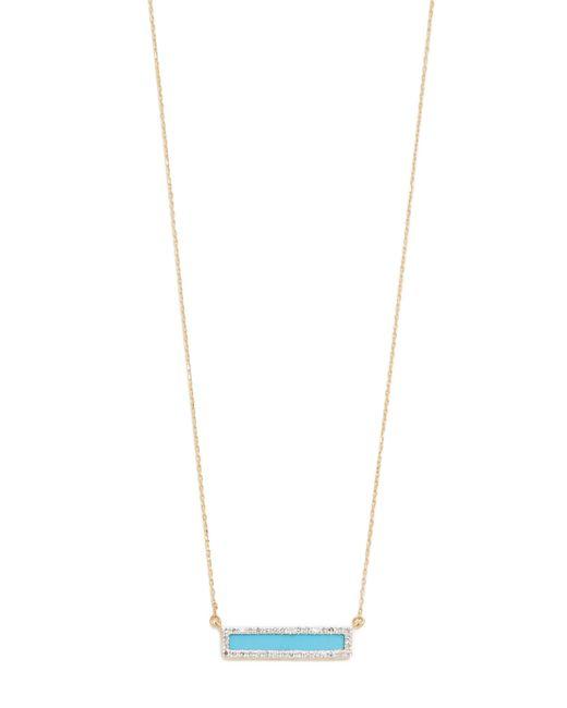Adina Reyter - Metallic Turquiose + Diamond Bar Necklace - Lyst