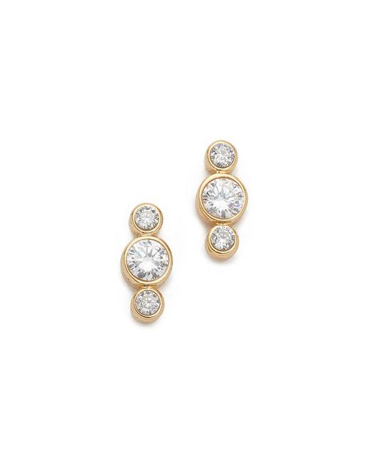 Kate Spade | Metallic Bright Ideas Round Linear Stud Earrings | Lyst