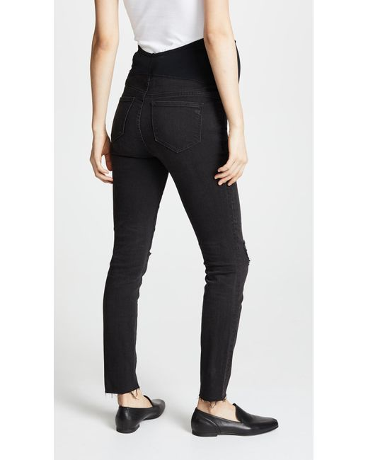 63f9d8f2af638 ... Madewell - Maternity Over-the-belly Skinny Jeans In Black Sea - Lyst ...