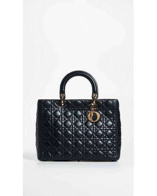 7bb076f0e9f9 What Goes Around Comes Around - Black Dior Lady Dior Bag - Lyst ...