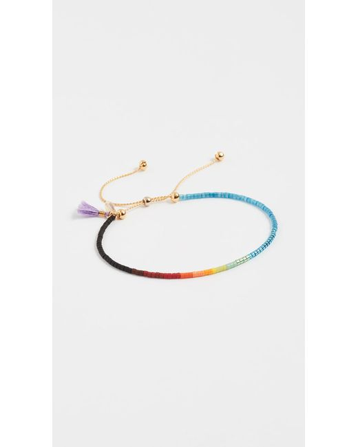 Shashi - Purple Sam Chain Slide Bracelet - Lyst