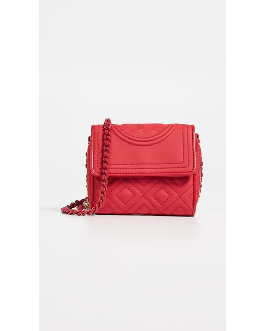 88238a2f1840 Tory Burch - Red Fleming Matte Mini Chain Wallet - Lyst ...