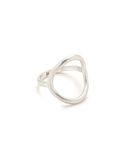 Madewell - Metallic Big Circle Ring - Lyst