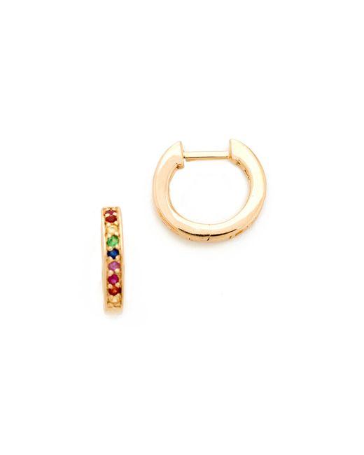 Sydney Evan | Multicolor Small Rainbow Huggie Hoop Earrings | Lyst
