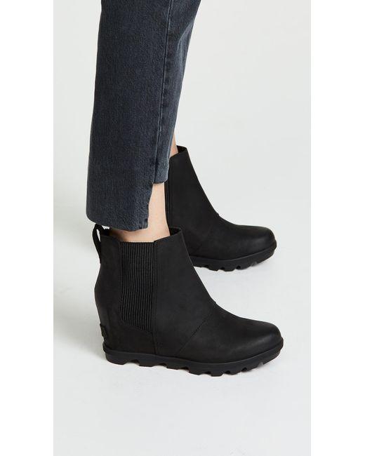 6cea1f523d0 Lyst - Sorel Joan Of Arctic Wedge Boot Black in Black - Save 45%