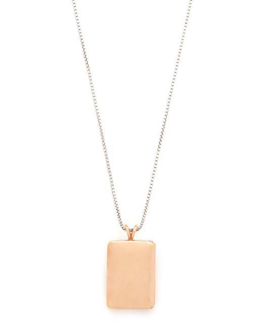 Madewell | Metallic Locket Necklace | Lyst