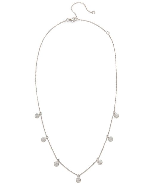 SHAY - White Pave Diamond Dangle Drop Necklace - Lyst