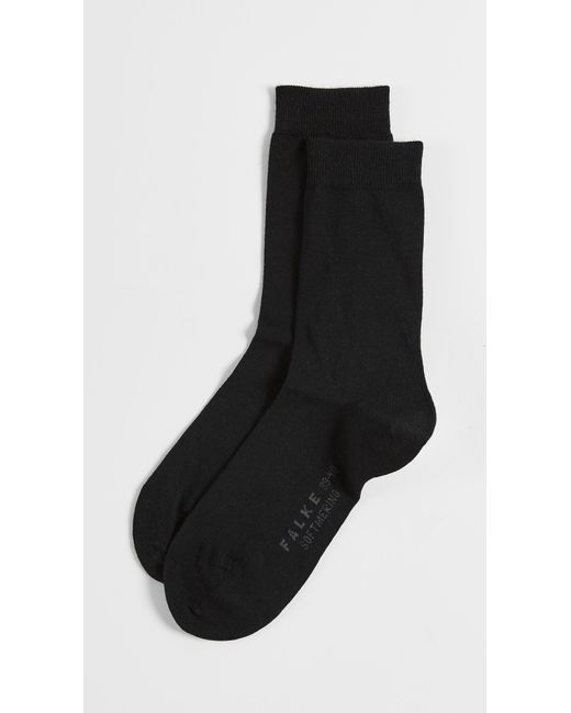 Falke - Black Soft Merino Socks - Lyst