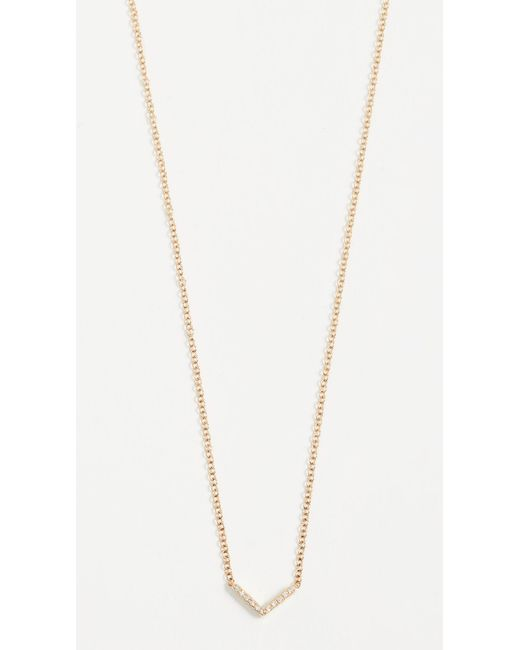 EF Collection - Metallic Diamond Mini Chevron Necklace - Lyst