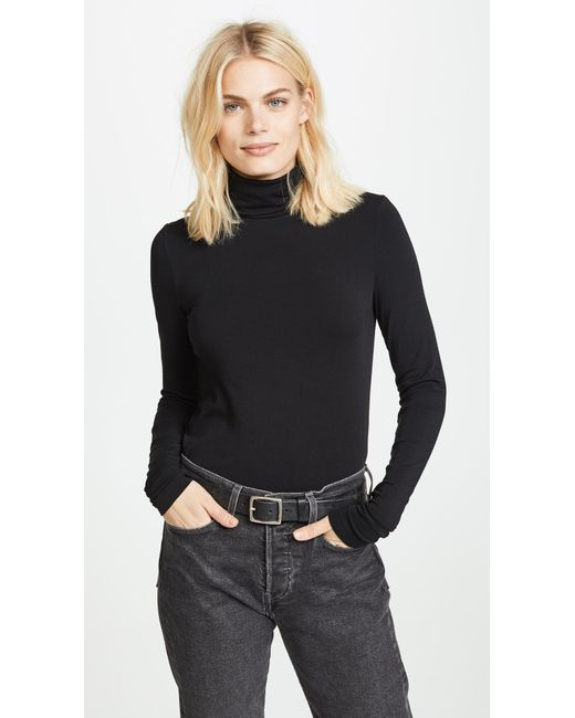 Wolford - Black Viscose Turtleneck Pullover - Lyst