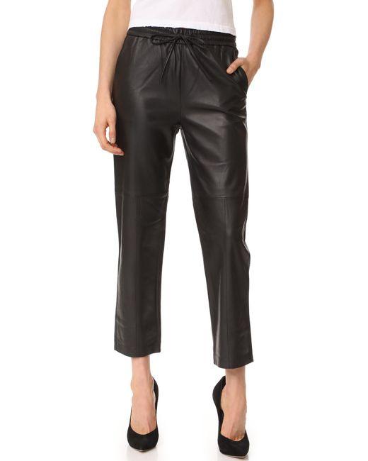 J Brand   Black Amari Leather Pants   Lyst