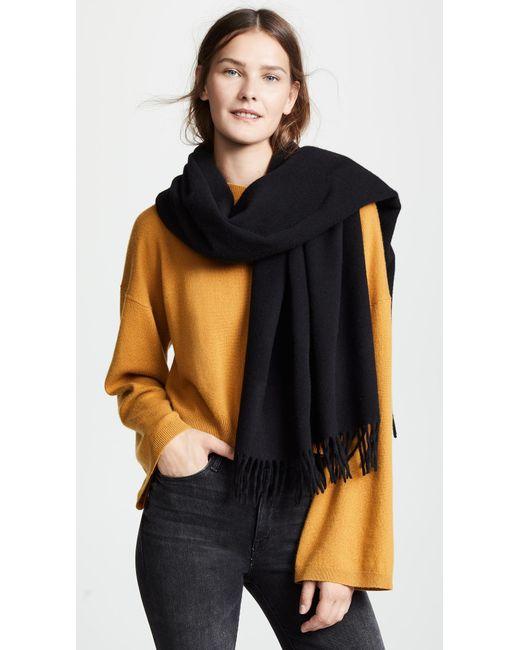 Rag & Bone - Black Classic Wool Scarf - Lyst