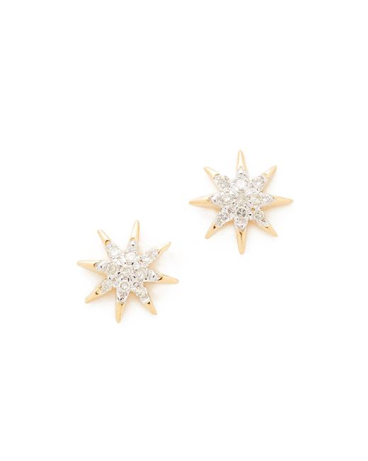 Adina Reyter - Metallic Solid Pave Starburst Earrings - Lyst