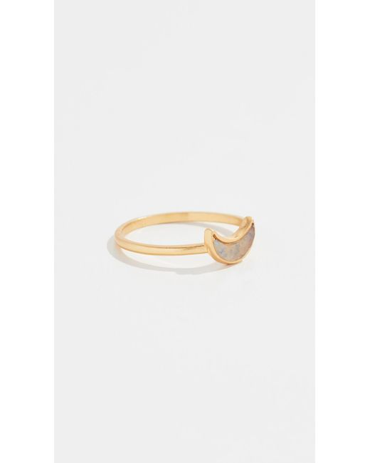 Madewell - Multicolor Crescent Moon Ring - Lyst