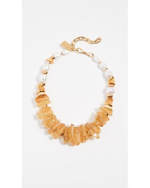 Lizzie Fortunato - Metallic Bronze Collar Necklace - Lyst