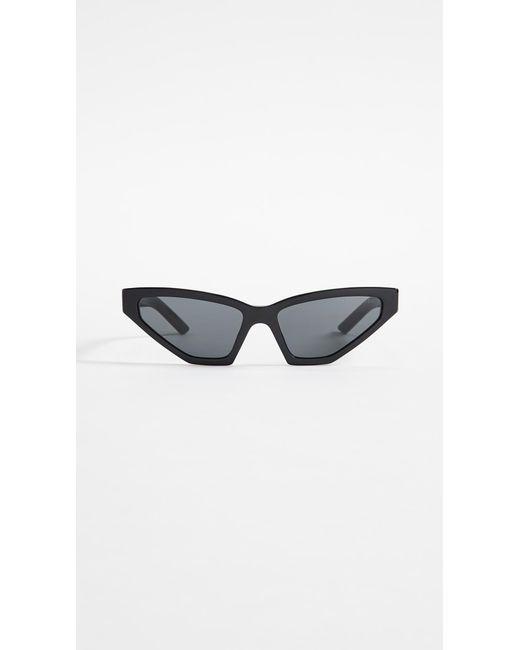 790b3572e4e2 ... Prada - Black Pr 12vs Millennial Narrow Cat Eye Sunglasses - Lyst ...