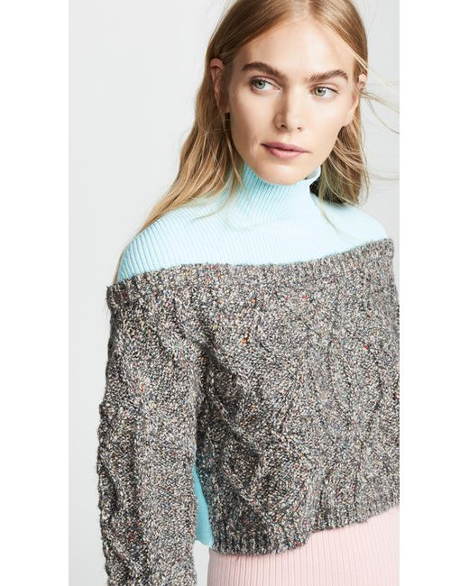 Opening Ceremony - Multicolor Cable Turtleneck Sweater - Lyst