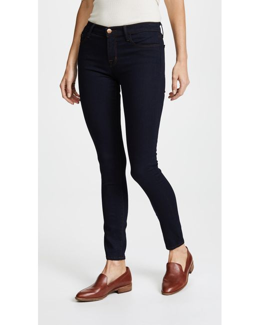 J Brand - Blue 811 Mid Rise Skinny Jeans - Lyst