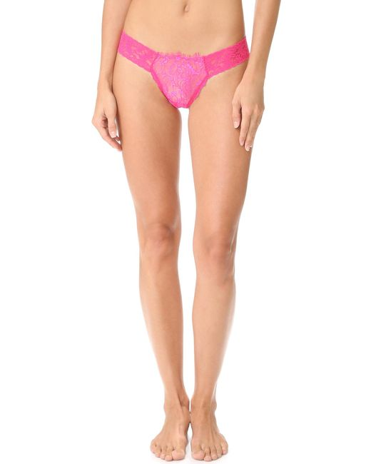 Hanky Panky | Black After Midnight Wink Low Rise Diamond Thong | Lyst