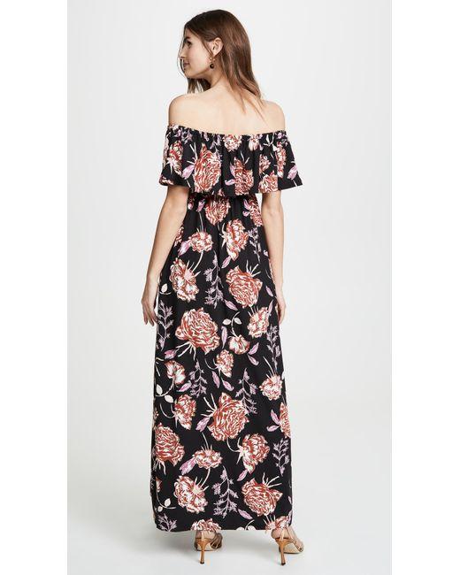 f04db14e8ff1d ... Lyst Ingrid & Isabel - Black Off The Shoulder Smocked Maxi Dress ...