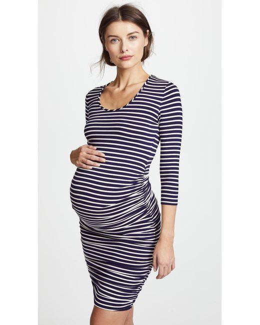 543636d5093 Ingrid   Isabel Striped Maternity Dress in Blue - Save 10% - Lyst