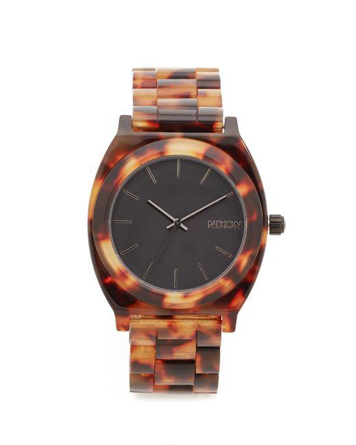 Nixon | Brown Time Teller Acetate Watch | Lyst
