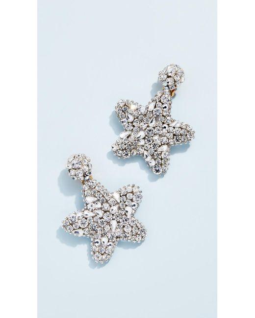 Oscar de la Renta - Multicolor Crystal Star Earrings - Lyst