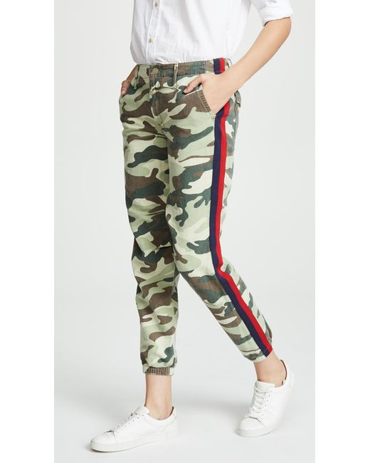 Mother - Green The No Zip Misfit Pant - Lyst