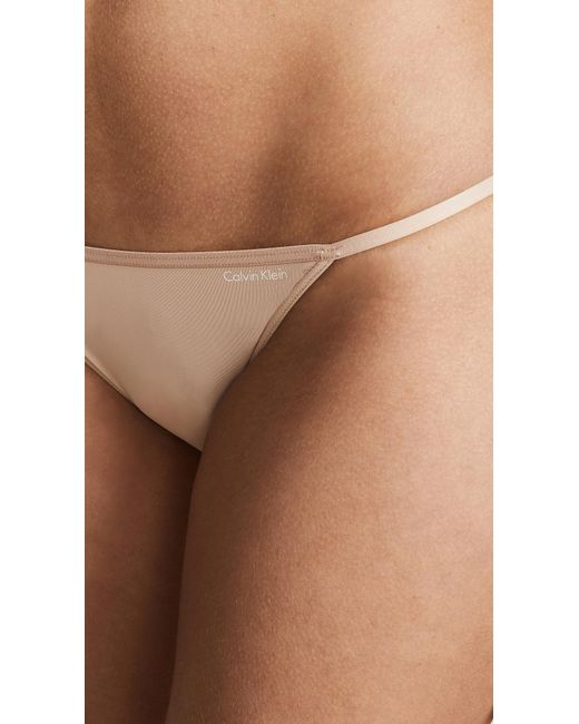 e1e1f39451 ... Calvin Klein - Multicolor Sleek String Bikini Panties - Lyst ...