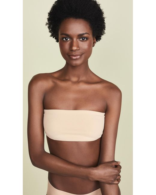 76ad7cccdb Lyst - Top Secret Tiny Tube Bandeau Bra in Natural - Save 61%