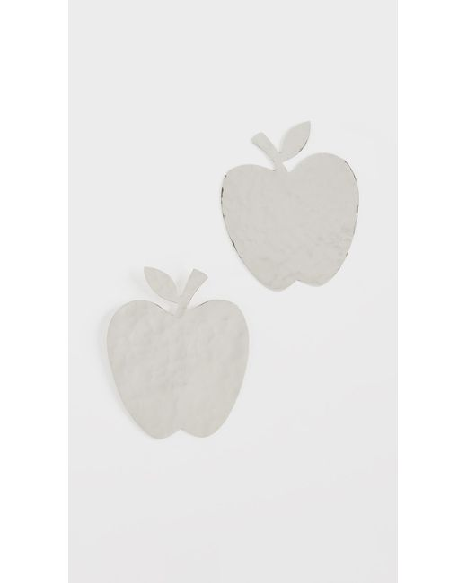 Anndra Neen - Metallic Apple Earrings - Lyst