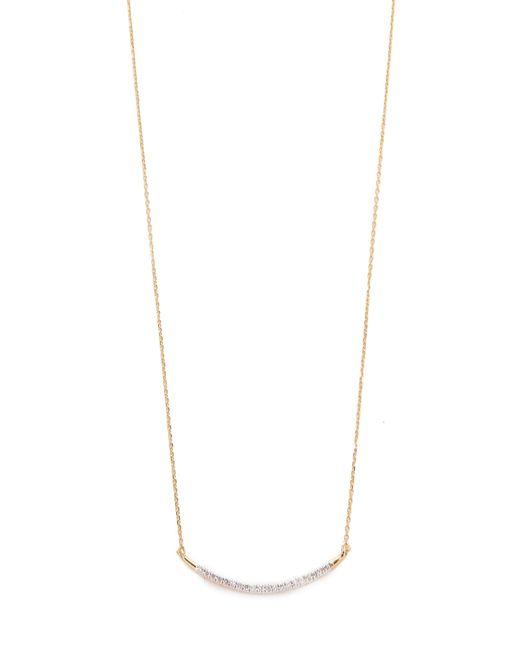 Adina Reyter | Metallic Large Pave Curve Necklace | Lyst