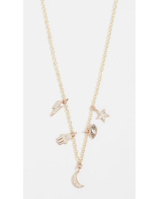 Zoë Chicco 14k Gold Charm Necklace MDVKM2Lf