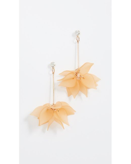Shashi - Multicolor Lucite Rose Earrings - Lyst