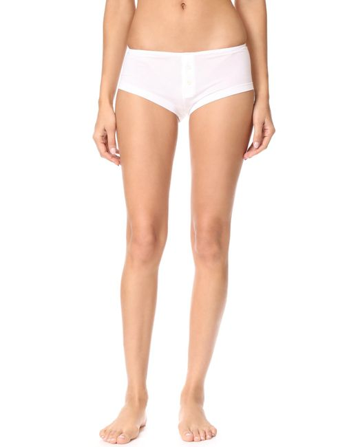 Kiki de Montparnasse - White Boy Short Panties - Lyst