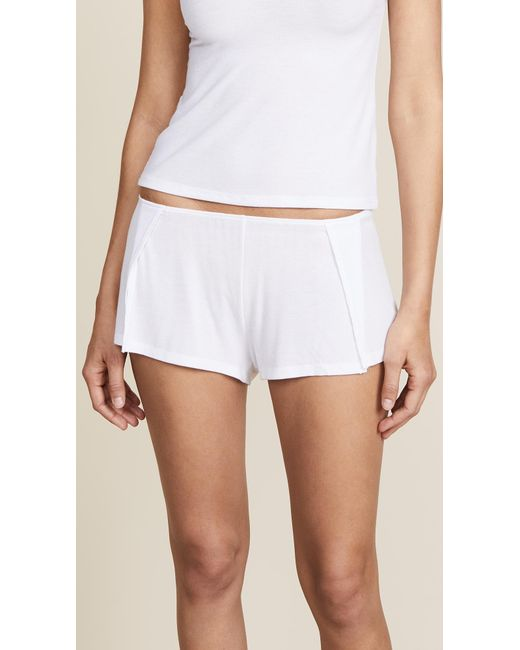 Only Hearts | White Ribbed Sleep Short | Lyst