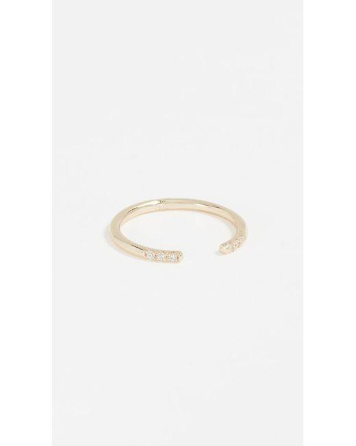 Shashi - Metallic Ava Ring - Lyst