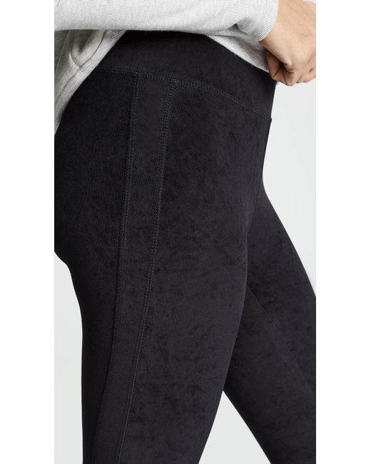 ea0b0d60f17374 ... James Perse - Black High Waist Velvet Leggings - Lyst ...