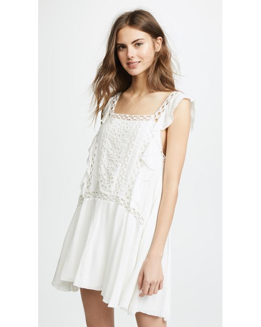 Free People - White Priscilla Dress - Lyst