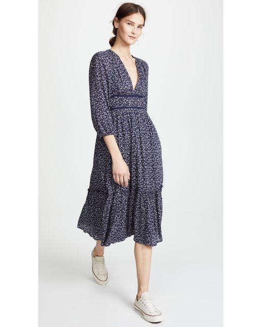Womens Elvina Embroidered Cotton Voile Midi-Dress Ulla Johnson o9atgALm