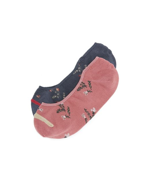 Madewell | Multicolor Floral Pattern No Show Sock 2 Pack | Lyst