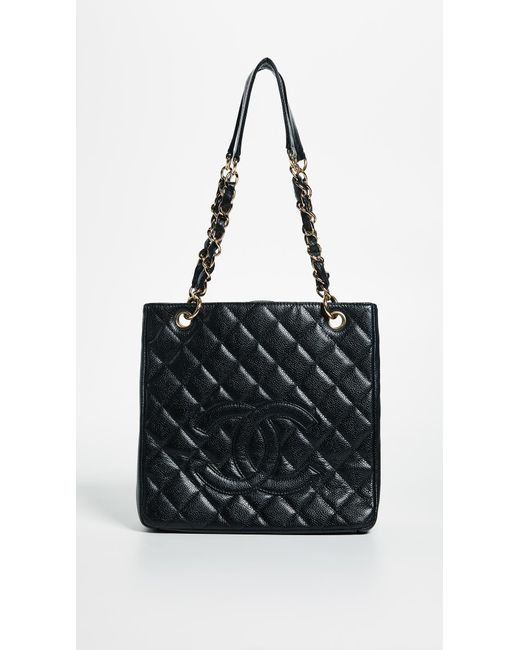 59ba5d08fd5c What Goes Around Comes Around - Black Chanel Pst Tote (previously Owned) -  Lyst ...