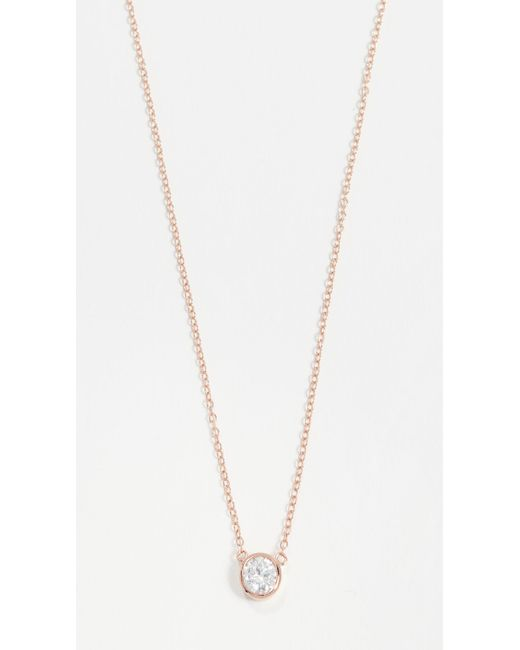 Shashi - Pink Solitaire Necklace - Lyst