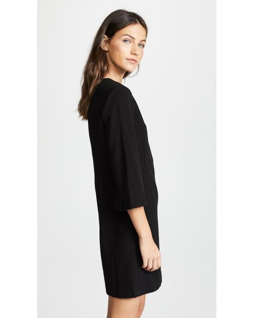 99143a06c7d ... Alice + Olivia - Black Gem 3 4 Sleeve Shift Dress - Lyst ...