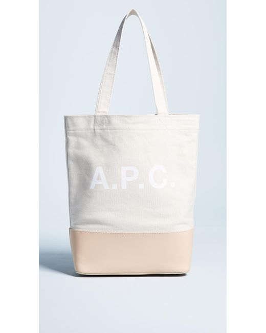 A.P.C. - White Cabas Axel Tote - Lyst