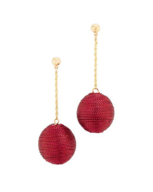 Kenneth Jay Lane   Red Ball Drop Earrings   Lyst