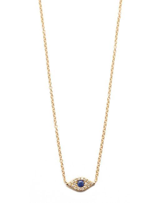 EF Collection | Metallic Diamond Evil Eye Choker Necklace | Lyst